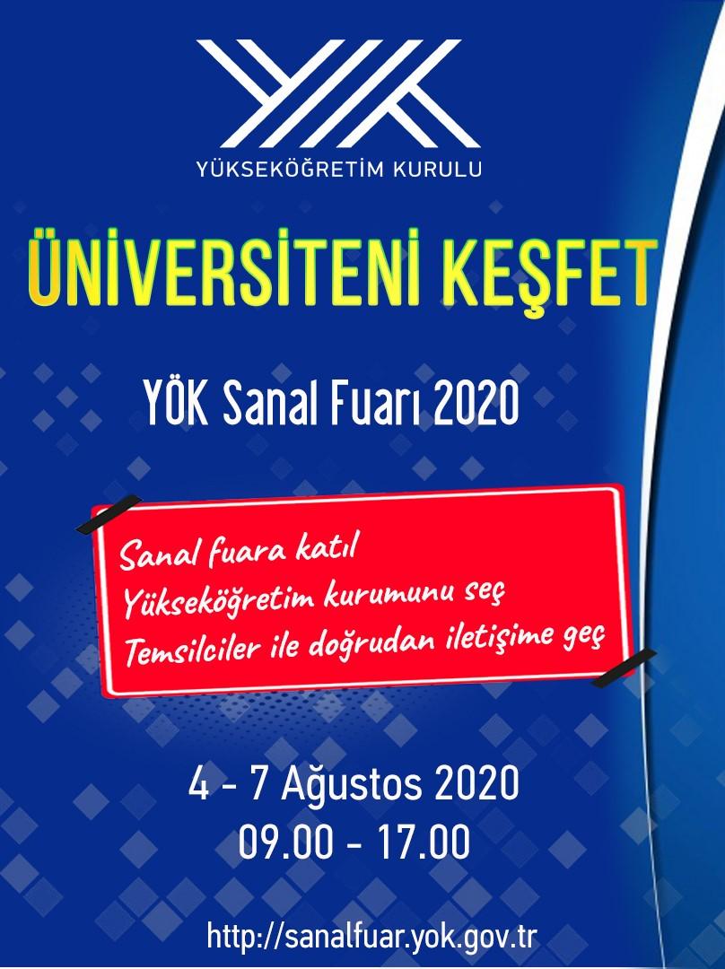 Üniversiteni Keşfet YÖK Sanal Fuarı 2020